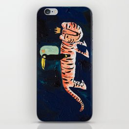 Tiger, Cheetah, Toucan Painting iPhone Skin