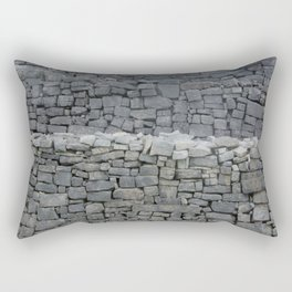 Dry stone wall Rectangular Pillow