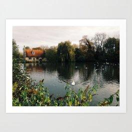 Bourne Mill, Colchester  Art Print