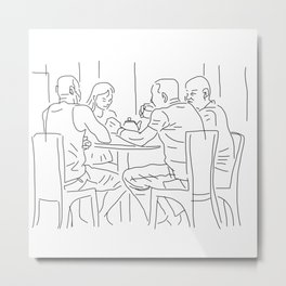 Finger Drawing 98 - Friends Metal Print