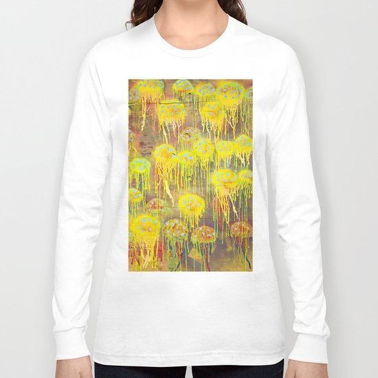 Polka Dot Jellyfish Long Sleeve T-shirt