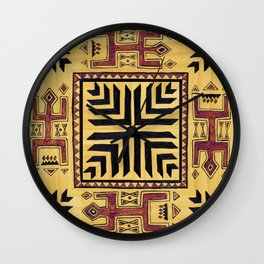 Southwest Shaman Tile Wall Clock