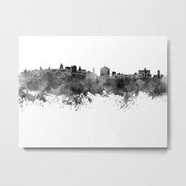 Havana skyline in black watercolor Metal Print