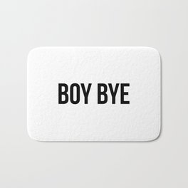 Boy Bye Bath Mat