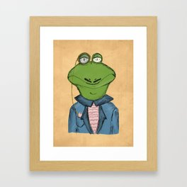 Sophisticated Frog Print Framed Art Print