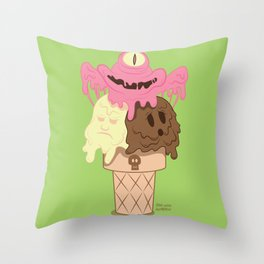 Neapolitan - The Psychopath Icecream Throw Pillow