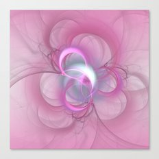 Pink Abstract Fractal on Pink Canvas Print
