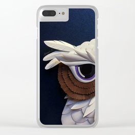 Owl of Wisdom Clear iPhone Case