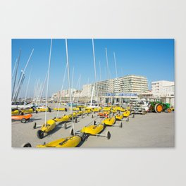 Sand yachting land yachting Canvas Print