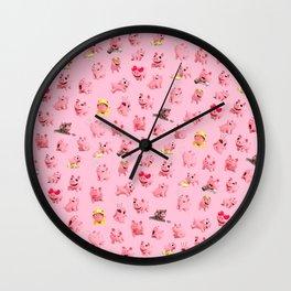 Rosa Pattern Wall Clock