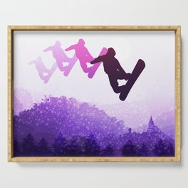 Snowboard Skyline IV Serving Tray