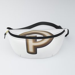 Chocolate Letter P Fanny Pack