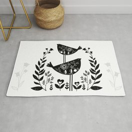 Danish Birds Of Good Luck And Good Life Rug