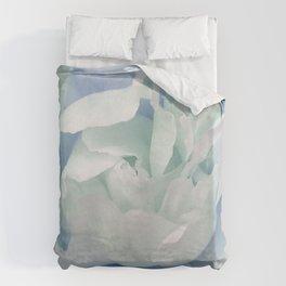 Peony in Blue White Duvet Cover