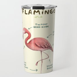 Anatomy of a Flamingo Travel Mug