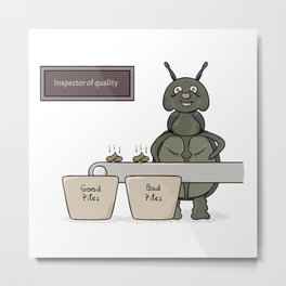 bug as a inspector of quality Metal Print