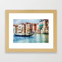 Grand Canal Ride, Venice, Italy Framed Art Print