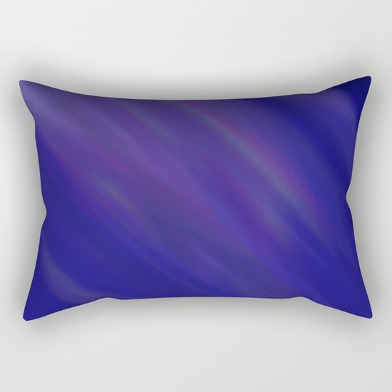 Finding Peace - Abstract, smooth, silky blue painting, peaceful, relaxing, modern art Rectangular Pillow