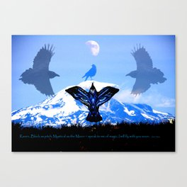 Raven Sky Mountain Canvas Print