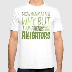 Aligator Friends White Mens Fitted Tee MEDIUM