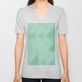 Blue Gray Cotton Fluff Unisex V-Neck