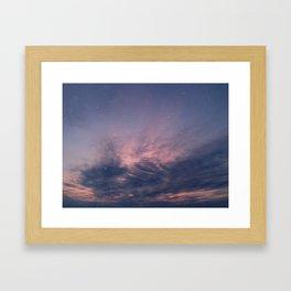 One warm summer evening Framed Art Print