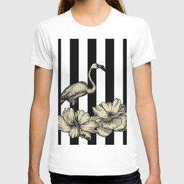 Stripe Flamingo T-shirt