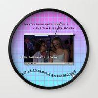 clueless Wall Clocks featuring Clueless x Monet by Lisa-Roxane Lion