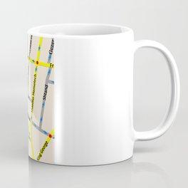 Tel Aviv map - Kikar Dizengoff Coffee Mug