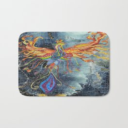 The Phoenix Rising From the Ashes Bath Mat