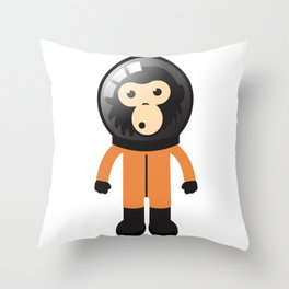 Astronout Ape Throw Pillow