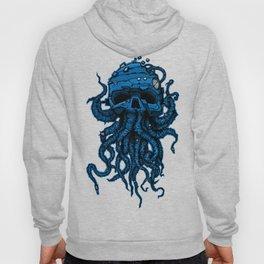 blue kraken skull Hoody