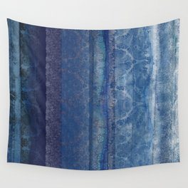 Textural Blue Wall Tapestry