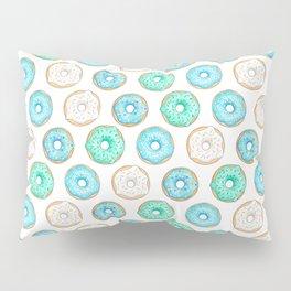 Blue Donuts Pillow Sham
