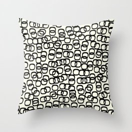 Black Tie Collection Links Throw Pillow