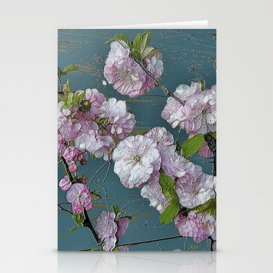 Vintage Pink Blossoms Stationery Cards