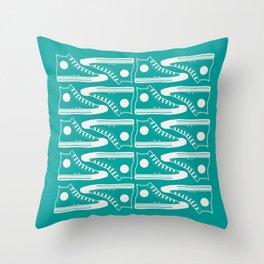 'The Con Artist' - Green Converse Pattern Throw Pillow