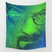 breaking bad Wall Tapestries featuring Breaking Bad by Scar Design