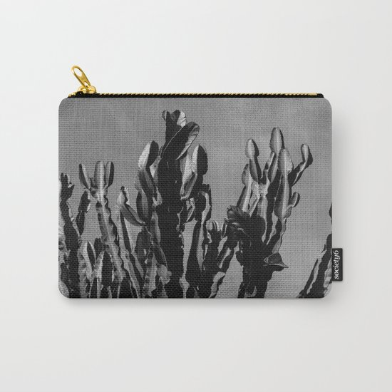 Monochrome Cactus Sky Carry-All Pouch