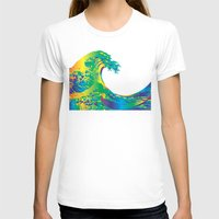 hokusai T-shirts featuring Hokusai Rainbow_A by FACTORIE