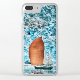 Sailboat Blackstone Bay Glacier Alaska Clear iPhone Case