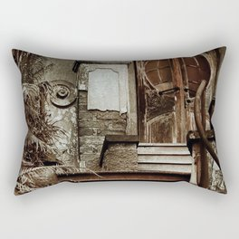 Old doors - Olympios House Rectangular Pillow