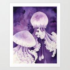 Purple Jellyfish Art Print