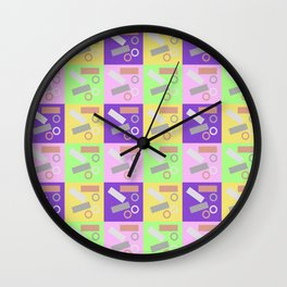 Checky Check Wall Clock