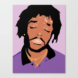 Lil Uzi Portrait (Purple) Canvas Print