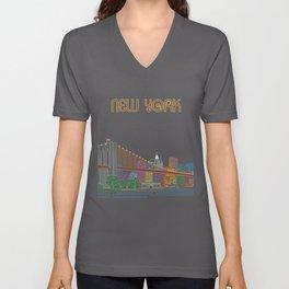 New York Circuit Unisex V-Neck