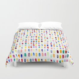 A brush of color Duvet Cover