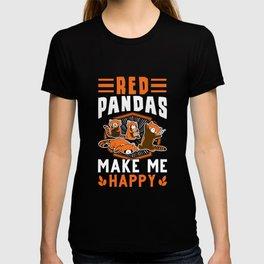 Red Pandas make me happy red panda T-shirt
