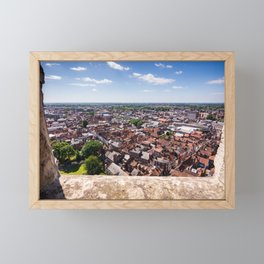 View of York from York Minster Cathedral tower Framed Mini Art Print