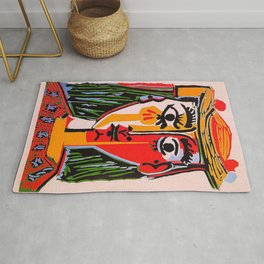 Head of a woman in a Hat Picasso Rug